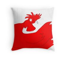 little red rooster Throw Pillow