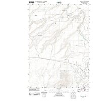 USGS Topo Map Oregon Cline Falls 20110826 TM Photographic Print