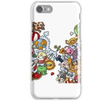 Doodle toons iPhone Case/Skin