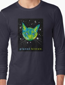 Planet Kitten Long Sleeve T-Shirt