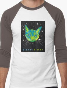 Planet Kitten Men's Baseball ¾ T-Shirt