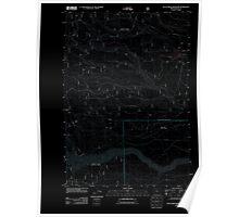 USGS Topo Map Oregon Rock Creek Reservoir 20110809 TM Inverted Poster