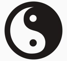 yin yang black by ideology