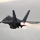 Hornet Afterburner Takeoff by Daniel McIntosh