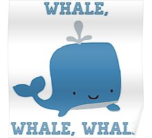 CARTOON WHALE Poster