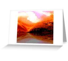 on golden lake..... surprise reflection Greeting Card