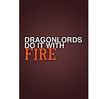 Dragon Lord Poster 2 Photographic Print