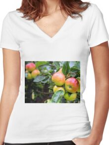 Apple Tree Women's Fitted V-Neck T-Shirt