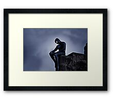 Black Spider-Man Framed Print