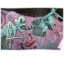Skeleton Graffiti Poster