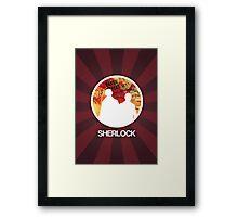 Sherlock Round Modern Poster Framed Print