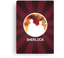 Sherlock Round Modern Poster Canvas Print