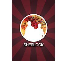 Sherlock Round Modern Poster Photographic Print