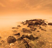 Golden - A rocky start to the day by Barry Aldridge