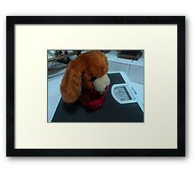 watch your health, pup! Framed Print