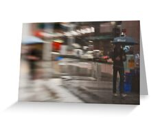 The Man Under The Umbrella - Sydney - Australia Greeting Card