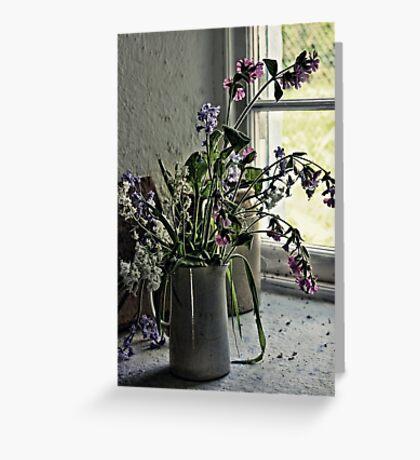 Vase of Wildflowers Greeting Card
