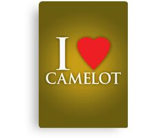 I Heart Camelot Canvas Print