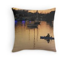 The Golden Harbour Throw Pillow