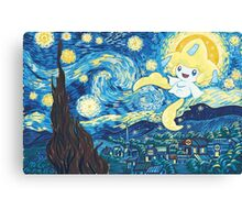 Starry Jirachi Canvas Print