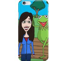 Krista Allen & Kermit the frog - tribute cartoon / comic art iPhone Case/Skin