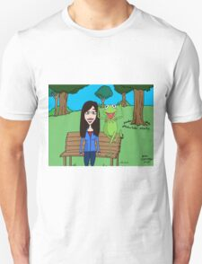 Krista Allen & Kermit the frog - tribute cartoon / comic art T-Shirt