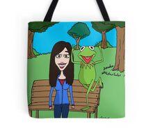 Krista Allen & Kermit the frog - tribute cartoon / comic art Tote Bag