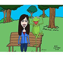Krista Allen & Kermit the frog - tribute cartoon / comic art Photographic Print