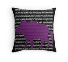 """""""The Year Of The Pig / Boar"""" Cards Throw Pillow"""