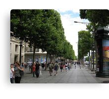 Champs Elysees Canvas Print