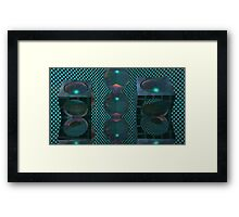 Flashbang Cutout2 Framed Print