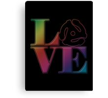 Vinyl Love 45 Canvas Print