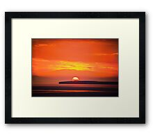 Loop Head Sunset Framed Print