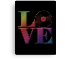 Vinyl Love Canvas Print