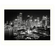The City of Sydney at night Art Print