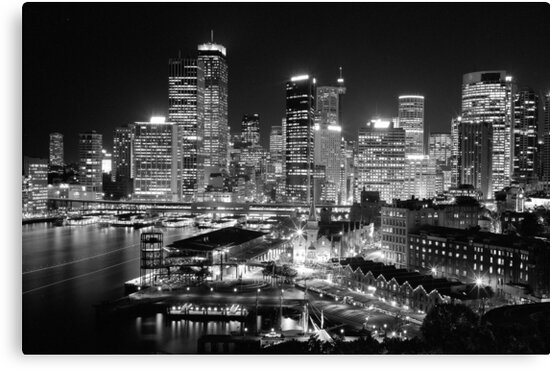 The City of Sydney at night by Thomas Joannes