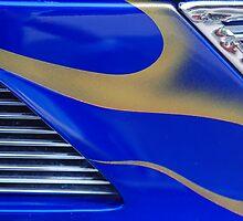 Street Rod Art: Blue, Gold & Chrome by Karen K Smith