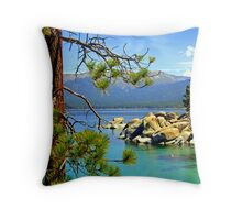 """Lake Tahoe Colors"" Throw Pillow"