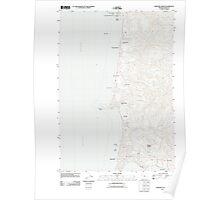 USGS Topo Map Oregon Newport North 20110824 TM Poster