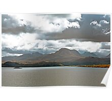 Landscape, Torridon Mountains, Loch Gairloch, Wester Ross, Scotland Poster