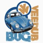 VW Beetle T-shirt by Autographics