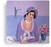 Nineteen-Thirties Lunch Date Canvas Print