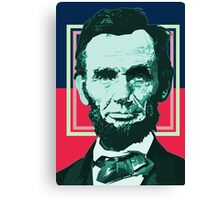 Abraham Lincoln - Retro Canvas Print