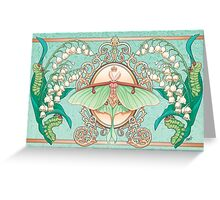 Moon Moth Greeting Card