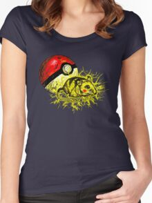 Real pikachu  Women's Fitted Scoop T-Shirt