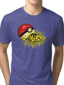 Real pikachu  Tri-blend T-Shirt