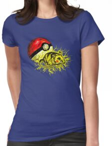 Real pikachu  Womens Fitted T-Shirt