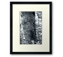Leave your Mark Framed Print