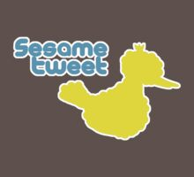 Sesame Tweet - Blue Text Kids Clothes