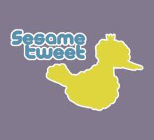 Sesame Tweet - Blue Text Kids Tee